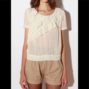 Urban outfitters pins & needles ruffle blouse